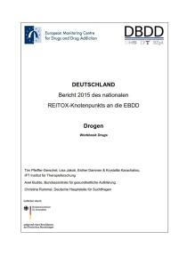 Bericht 2015 des nationalen REITOX-Knotenpunkts an die EBDD – Cover des Workbook Drugs (DBDD, 18.01.2016)