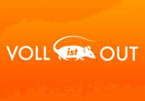 "Logo der Kampagne ""VOLL ist OUT"" (Münster)"