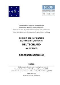 Bericht des nationalen REITOX Knotenpunkts Deutschland an die EBDD – Drogensituation 2002 (DBDD, Oktober 2003)