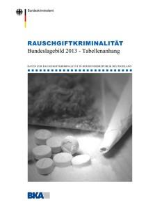 Rauschgiftkriminalität – Bundeslagebild 2013 – Tabellenanhang (BKA, 2013)