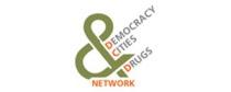 """Logo des Netzwerks """"Democracy, Cities & Drugs Network"""" (Paris, Frankreich)"""