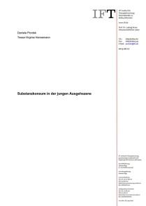 Substanzkonsum in der jungen Ausgehszene (IFT, 27.08.2014)