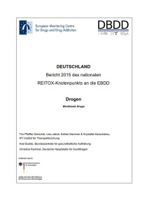 Bericht 2015 des nationalen REITOX-Knotenpunkts an die EBDD – Cover des Workbook Drugs (DBDD, 18.01.2016)