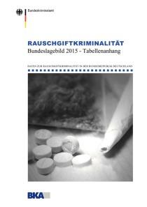 Rauschgiftkriminalität – Bundeslagebild 2015 – Tabellenanhang (BKA, 2016)