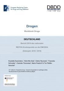 Bericht 2019 des nationalen REITOX-Knotenpunkts an die EBDD (Datenjahr 2018 / 2019) – Cover des Workbook Drogen (DBDD, 07.11.2019)