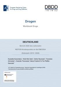 Bericht 2020 des nationalen REITOX-Knotenpunkts an die EBDD (Datenjahr 2019 / 2020) – Cover des Workbook Drogen (DBDD, 09.12.2020)